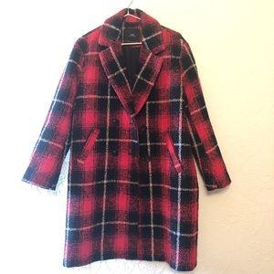 Zara Plaid Oversized Coat